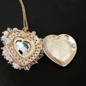 Betsey Johnson heart locket necklace